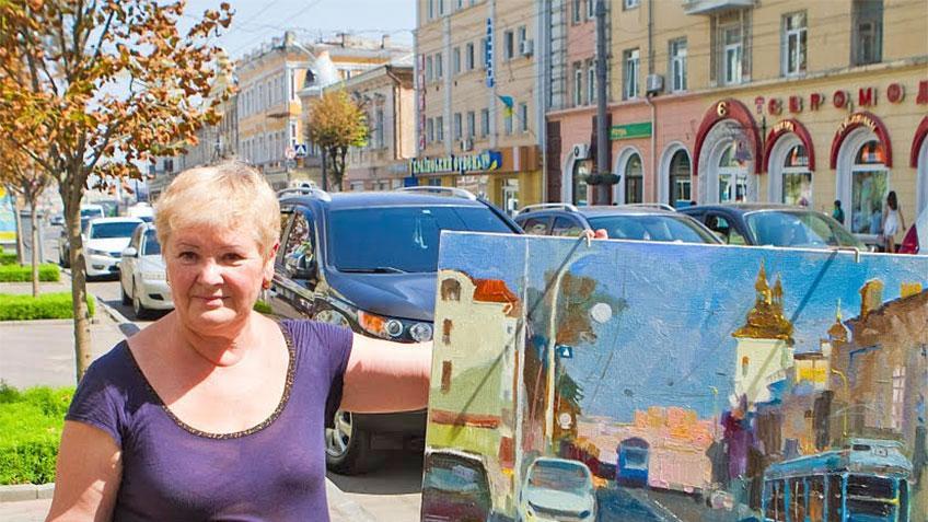 Світлана Нечай-Сорока презентує свою картину