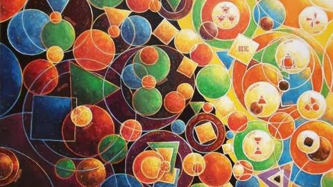 Виставка сучасного мистецтва, абстракції і сайарсизму