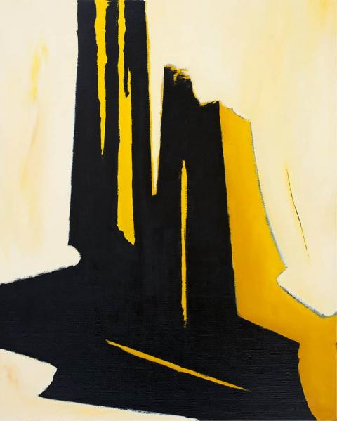 Franco Viola 2021 Andante, 2018, Olio su tela, 100x80 cm