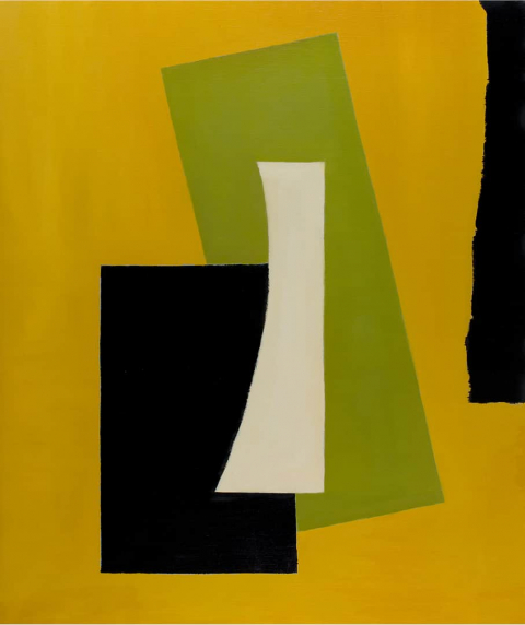 Franco Viola 2021 Forme III, 2020, olio su tela, 130x110 cm