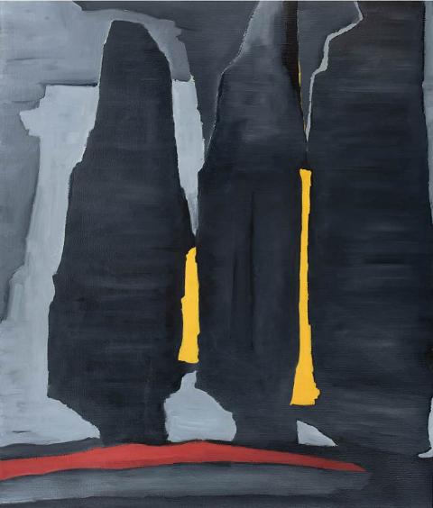 Franco Viola 2021 Nel tempo III, 2019, Olio su tela, 130x110 cm