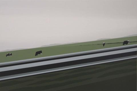J. Molenaar 2021 Landscape with Cows