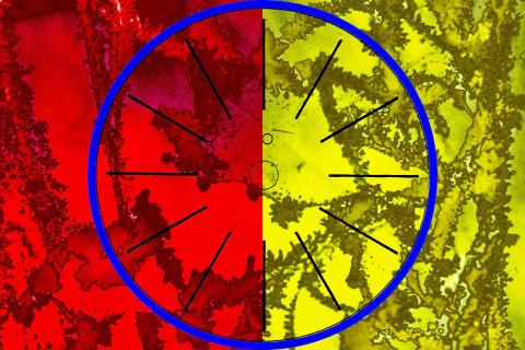 Jean-Philippe Deugnier 2021 Line segments - Blue-circle