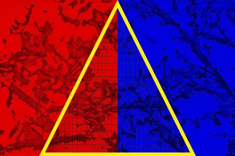 Jean-Philippe Deugnier 2021 Line segments - Yellow-triangle
