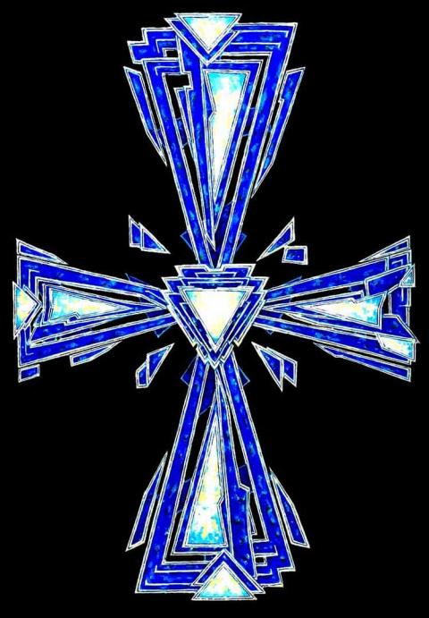 Сергій Дождь 2021 Крест предтечи (Интуитивный крест). Это первое, что возникает в неосознанной тьме…